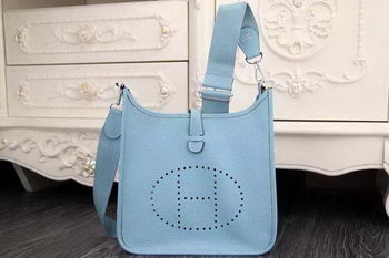 Hermes Evelyne 28cm Messenger Bag Original Leather H1188 SkyBlue