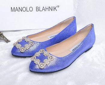 Manolo Blahnik Ballerina Satin Canvas MB088 Blue