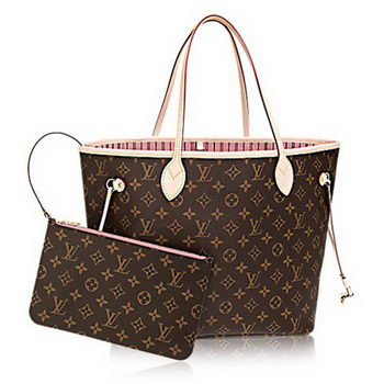 Louis Vuitton Monogram Canvas Neverfull MM M50366 Rose Ballerine