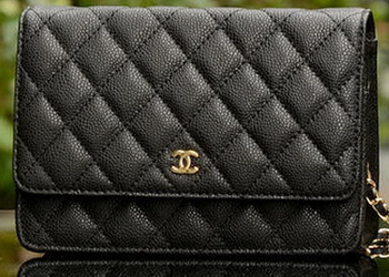 Chanel mini Flap Bag Black Cannage Pattern A33814 Gold