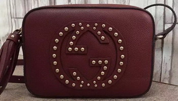 Gucci Soho Calfskin Leather Disco Bag 308364 Maroon