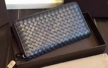 Bottega Veneta Intrecciato Nappa Zip Around Wallet BV114078 Gray