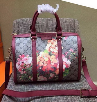 GUCCI Original GG Canvas Boston Bag 247205 Maroon