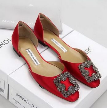 Manolo Blahnik Ballerina Satin Canvas MB099 Red