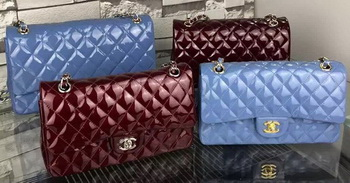 Chanel 2.55 Series Flap Bag Patent Leather A1112