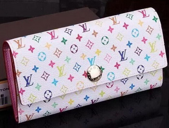 Louis Vuitton Monogram Multicolore Sarah Wallet M93745 White
