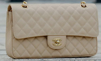 Chanel 2.55 Series Flap Bag Apricot Cannage Pattern A1112 Gold