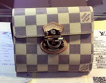 Louis Vuitton Damier Azur Canvas JOEY WALLET N60030