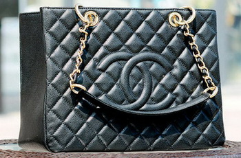 Chanel Classic Coco Bag Black GST Cannage Pattern A50995 Gold
