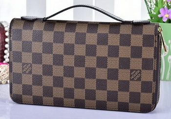 Louis Vuitton Damier Ebene Canvas ZIPPY XL WALLET N41503
