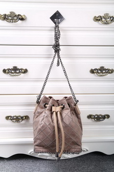 Stella McCartney Falabella Studded Quilted Bucket Bag SMC013 Khaki