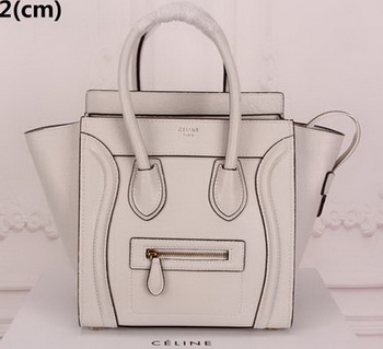 Celine Luggage Micro Tote Bag Original Leather CLY33081M OffWhite