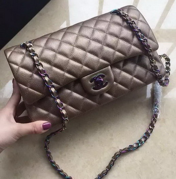 Chanel 2.55 Series Double Flap Bag Original Lambskin Leather A1112 Gold