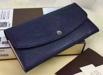 Louis Vuitton Epi Leather EMILIE WALLET M60854 Indigo