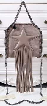 Stella McCartney Falabella Fringed Star Mini Tote Bag SM8855 Khaki