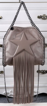 Stella McCartney Falabella Fringed Star Mini Tote Bag SM8865 Khaki