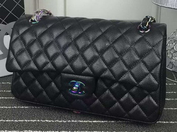 Chanel 2.55 Series Flap Bag Lambskin Leather A1112 Black