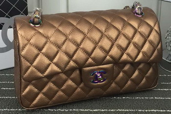 Chanel 2.55 Series Flap Bag Lambskin Leather A1112 Bronze