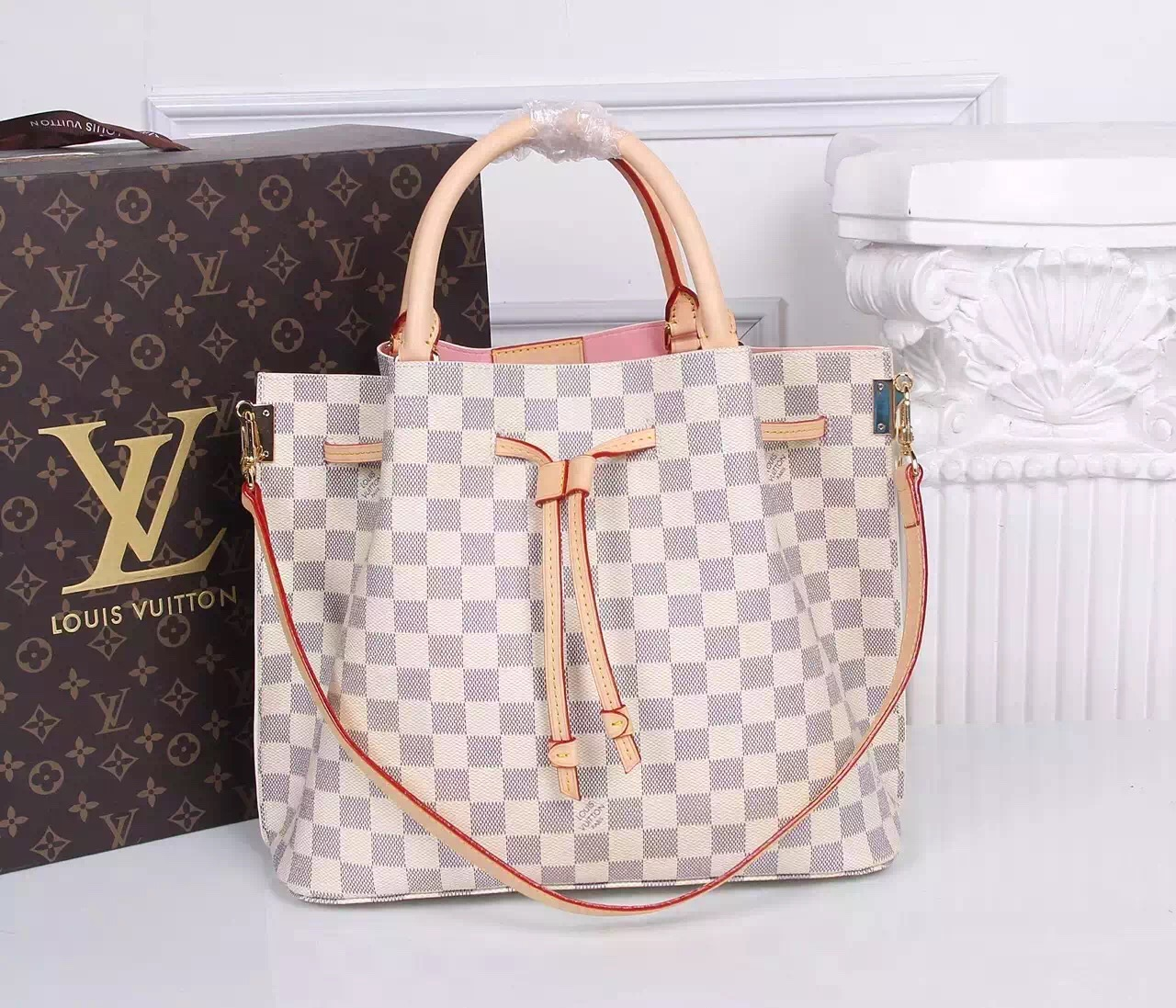 Louis Vuitton Damier Azur Canvas Shoulder Bag 41579
