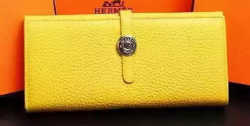 Hermes Dogon Original Leather Wallet H509 Yellow