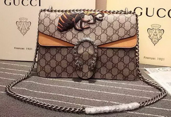 Gucci Dionysus GG Supreme Canvas Shoulder Bag 400249 Yellow