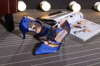 Manolo Blahnik 70mm Pump MB117 Blue