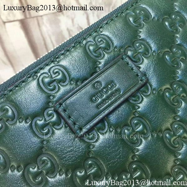 e6b0791ee9d Gucci Signature Leather Messenger Bag 429004 Green -  259.00