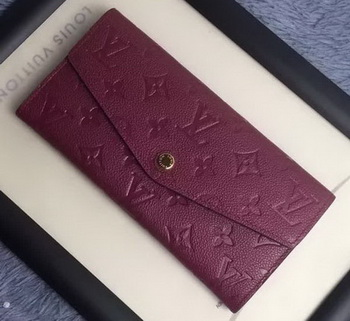 Louis Vuitton Monogram Empreinte WALLET M60565 Purple