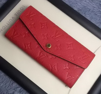 Louis Vuitton Monogram Empreinte WALLET M60565 Red