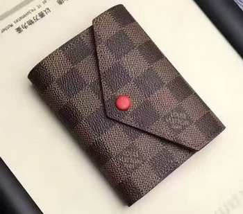 Louis Vuitton Damier Ebene Canvas VICTORINE WALLET N41659