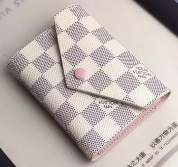 Louis Vuitton Damier Azur Canvas VICTORINE WALLET N58114 Pink