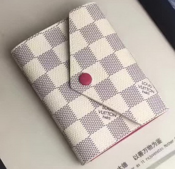 Louis Vuitton Damier Azur Canvas VICTORINE WALLET N58114 Red