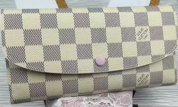 Louis Vuitton Damier Azur Canvas Emilie Wallet N60696
