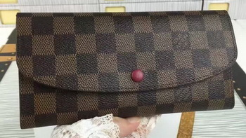 Louis Vuitton Damier Ebene Canvas Emilie Wallet N60696
