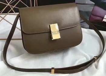 Celine Classic Box Flap Bag Smooth Leather C20447 Green