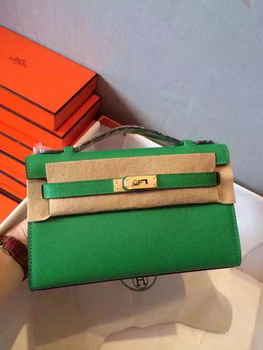 Hermes Kelly 22cm Tote Bag Original Leather KL22 Green
