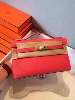 Hermes Kelly 22cm Tote Bag Original Leather KL22 Red