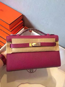 Hermes Kelly 22cm Tote Bag Original Leather KL22 Rose