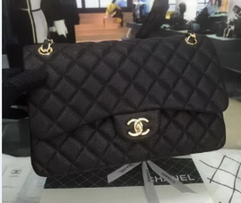 Chanel 2.55 Series Flap Bags Original Leather B5024 Black
