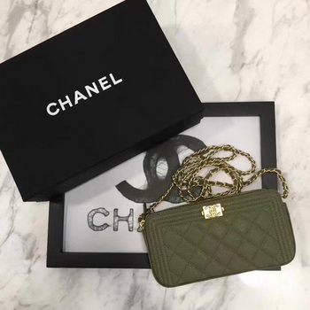 Boy Chanel Flap Bag Original Cannage Pattern CHA3369 Khaki