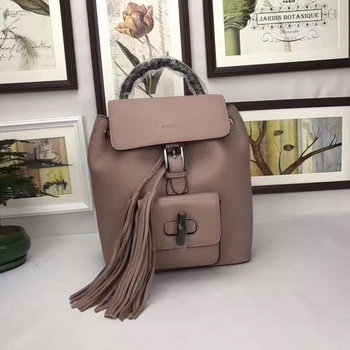 GUCCI Calfskin Leather Backpack 387149 Pink