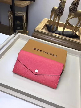 Louis Vuitton Monogram Empreinte SARAH WALLET M61182 Rose
