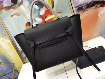 Celine Belt Bag Original Litchi Leather C3349 Black