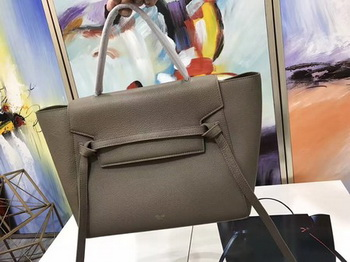 Celine Belt Bag Original Litchi Leather C3349 Grey