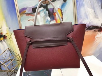 Celine Belt Bag Original Litchi Leather C3349 Wine