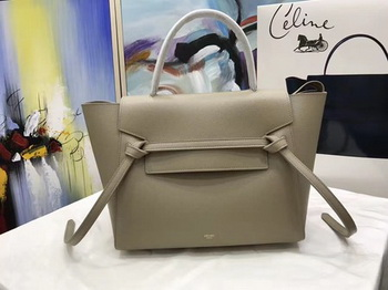 Celine Belt Bag Original Palm Skin Leather C3349 Light Grey