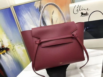 Celine Belt Bag Original Palm Skin Leather C3349 Wine