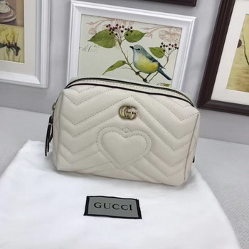 Gucci GG Marmont Cosmetic Case 476165 OffWhite