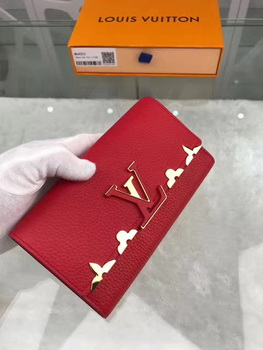 Louis Vuitton CRUISE 2017 CAPUCINES WALLET M64551 Red