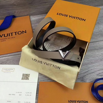Louis Vuitton 20mm Leather Belt M9309 Grey